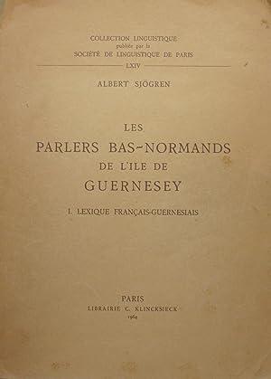 Les parlers bas-normands de l'île de Guernesey: Albert SJÖGREN