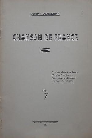 Chanson de France: Joseph DENGERMA