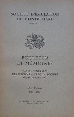 Bulletin et Mémoires de la Société d' Émulation de Montbé...