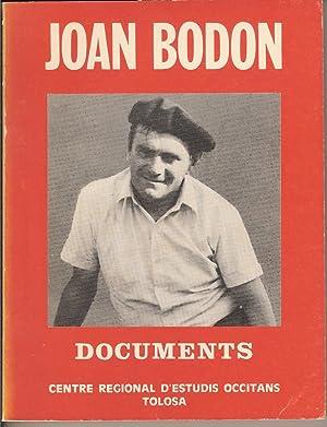 Documents: Joan BODON