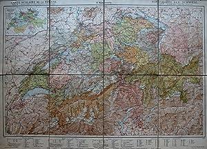 Carte de la Suisse à l'usage des: H KÜMMERLY