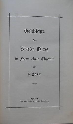 Geschichte der Stadt Olpe in Form einer Chronik: Hermann FORCK