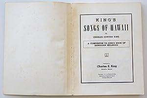 King's Songs of Hawaii: Charles E. King