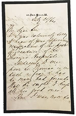 Florence Nightingale AUTOGRAPH LETTER Signed regarding One of the first institutions to teach nur...