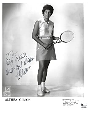 African-American Tennis Legend Althea Gibson Signed Photo