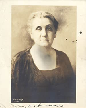 Signed Photo of Jane Addams, Who Won A Nobel Peace Prize For Her Social Work