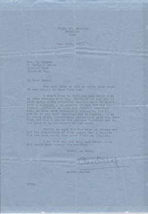Audrey Hepburn Letter Signed early in her career on Her New Iconic Short Hairstyle, Recent Marria...