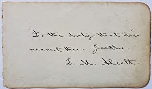 Louisa May Alcott Writes a Quote About Duty