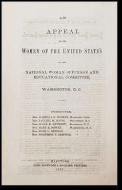 One of the landmark documents in the history of feminism: An Appeal To The Women of the United St...
