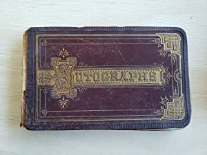 Memory Album from Student at Female Academy in Massachusetts, 1876-1882 recording many aspects of...