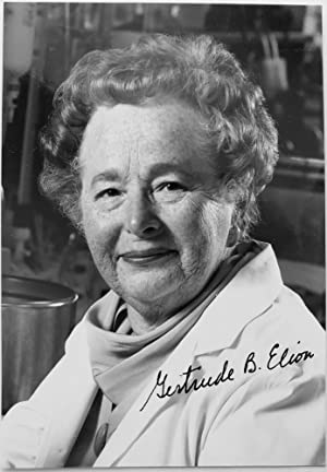 Signed Photo of Gertrude B. Elion, 1988 Nobel Prize Winner with Major Contributions to HIV/AIDS T...