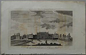 The Queen's Palace in St James Park 1776 Antique Engraving Print