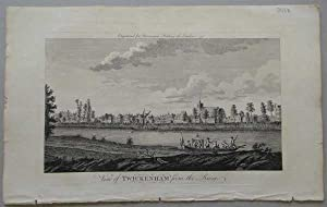 A View of Twickenham, from the River, 1776, Antique Engraving, Print