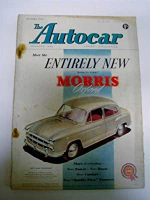 Autocar June 18, 1954 Ford V8, Le: Autocar