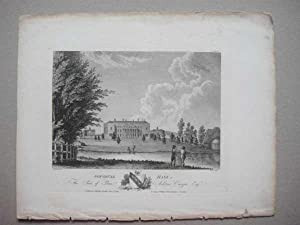 Leicestershire Gopshall Gopshull Hall 1791 Antique Print: ex Throsby Leicester