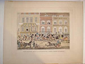 Coaching Print West Country Mails Gloucester Coffee House Piccadilly Orig Engraving