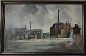 Duns Lane, Leicester, Original 1975 Framed Acrylic Painting: Smith, Michael