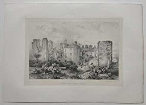 Leicester Abbey in 1826 Original Printer's Proof: Flower, J.