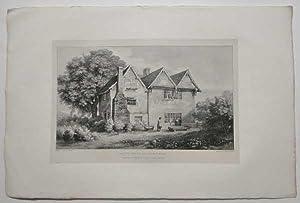 Old House Thurcaston Original Printer's Proof Lithograph: Flower, J.