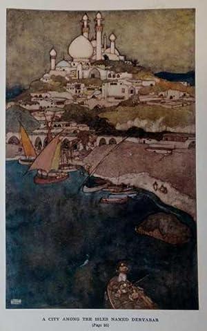 Antique Print ex Arabian Nights City among: Dulac, Edmund