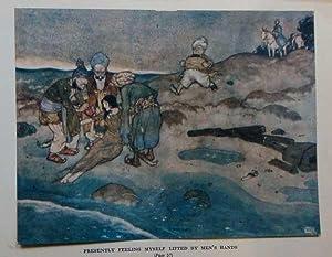 Antique Print ex Arabian Nights Lifted by: Dulac, Edmund