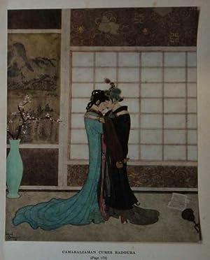"Antique Print ex Arabian Nights Camaralzaman ""Princess: Dulac, Edmund"