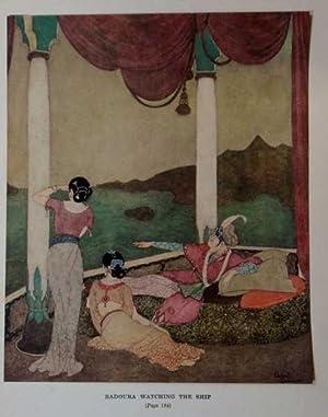 Antique Print ex Arabian Nights Watching the: Dulac, Edmund
