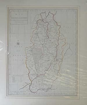 Harrison Map of Nottinghamshire Engraved from Survey
