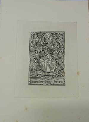 William Henry Radcliffe Saunders, Bookplate