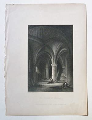 The Dungeon of Chillon 1833 Engraving