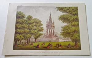 The Albert Memorial in Hyde Park, Antique Colour Print
