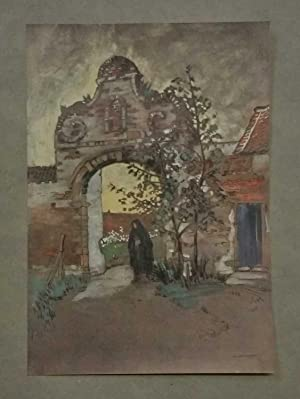 Louvain, Entrance to the Cloister (Glory of Belgium c.1920)