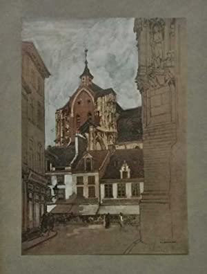Louvain South-West Tower of Cathedral (Glory of Belgium c.1920)