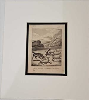The Wolfs Entertainment C18th Aquatint engraving print Fable 211