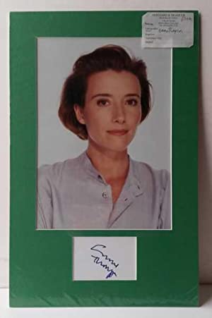 Emma Thompson, Hand signed signature 2010