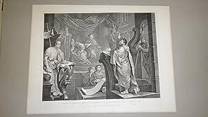 Paul Before Felix, A set of 3 (+duplicate) Antique Engraving: William Hogarth