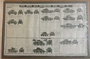 War Office, A.F.V., Recognition Wall Chart, Infantry Instructional Poster