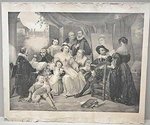 Rubens, In His Study, Antique, Lithograph, Print: Druck u. Verlag