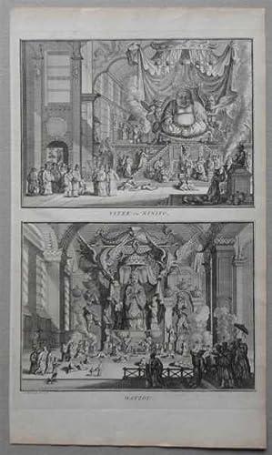 China, Vitek, ou, Ninifo, Matzou, Antique, Engraving, Print, China, religion, deities,: Bernard ...