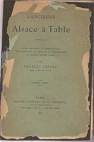 L'Ancien Alsace à Table. Étude Historique et Archéologique Sur L'...