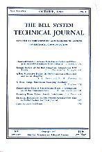 The Bell System Technical Journal - Volume XXIX, No. 4, October 1950