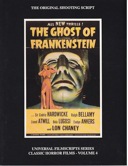 Frankenstein Original Shooting Script By Riley Philip J
