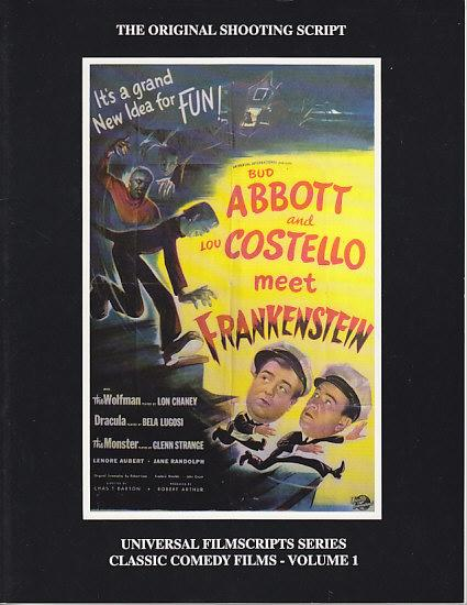 MagicImage Filmbooks Presents Abbott And Costello Meet Frankenstein The Original Shooting Script