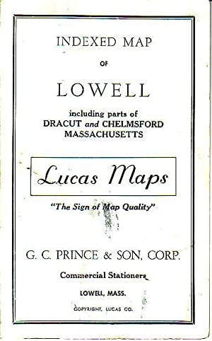 Indexed Map of Lowell Including Parts of Dracut and Chelmsford Massachusetts - Lucas Maps