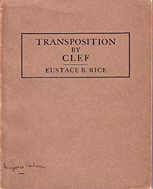 Transposition By Clef - New England Conservatory Course in Transposition - Used in Connection with ...
