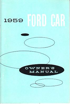 1959 FORD OWNERS MANUAL