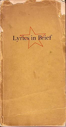 Lyrics in Brief 1300-1938 SIGNED - ASSOCIATION COPY