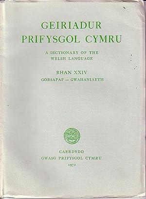 Geiriadur Prifysgol Cymru - A Dictionary of the Welsh Language - Rhan XXIV Gorsafaf - Gwahaniaeth