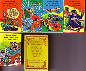 "5 ""Mighty Midget"" Magic Invisible Picture Books, Housed in Original 2 Section Box."