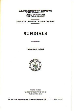 Sundials: Prepared by Gould, R.E.